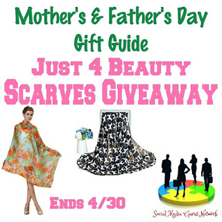 Enter the Just 4 Beauty Scarves Giveaway. Ends 4/30