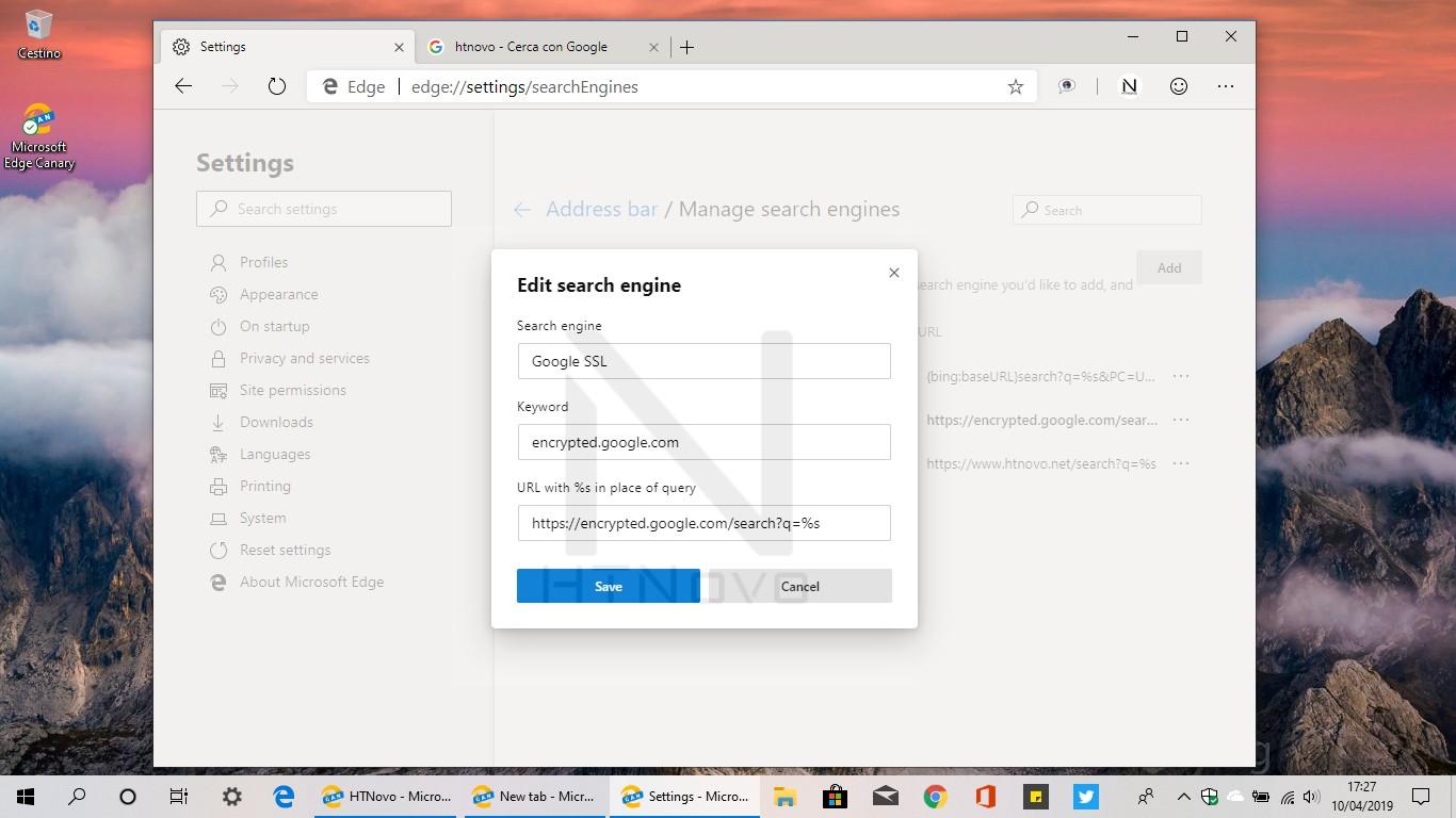Impostare-motore-di-ricerca-google-edge-chromium