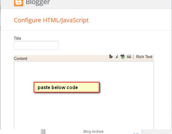 add html/javascript on blogger