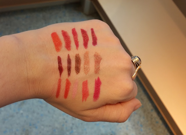 p2 Full Color Lipsticks Swatch