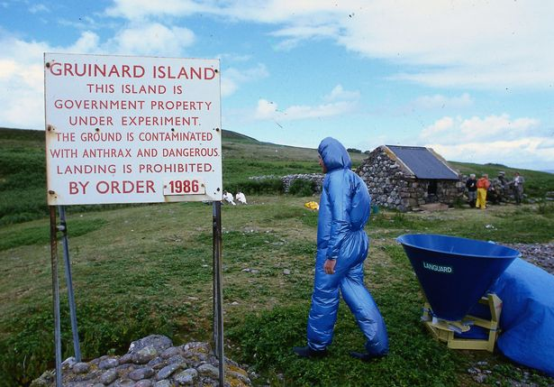 Anthrax island: Gruinard in Scotland is a no man's land after testing was conducted (Image: Mirrorpix)