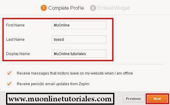 Registro en el sitio zopin