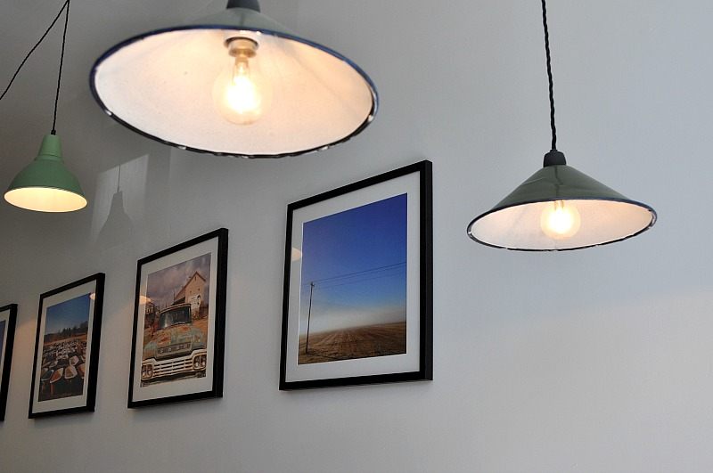 Cafe lights and photos of the deep south