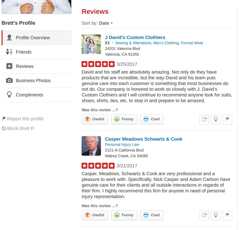 Brett Piper has 2 reviews written on clients of Scorpion Internet Marketing