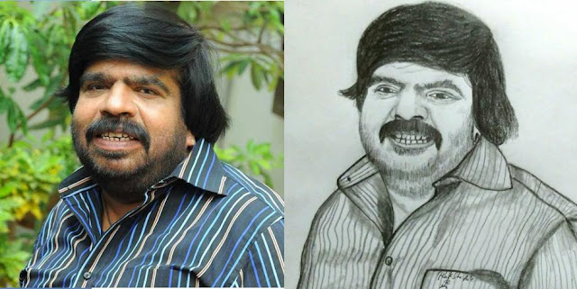PENCIL DRAWING - ACTOR T.RAJENDAR