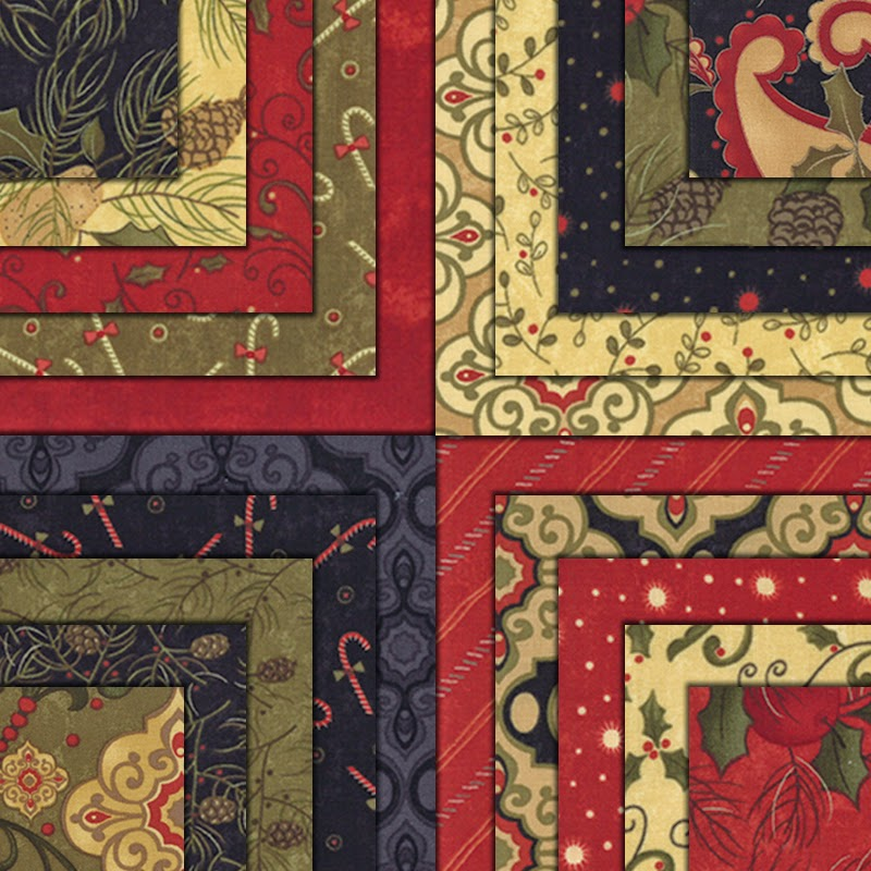 PINE FRESH ADVENT OR REGULAR WALL HANGING QUILT KIT Moda Fabric by Sandy Gervais