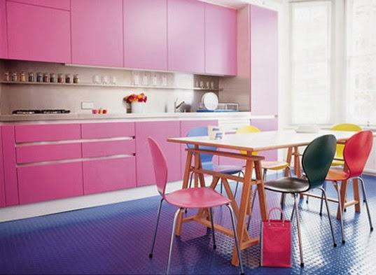 mobiliario cocina rosa
