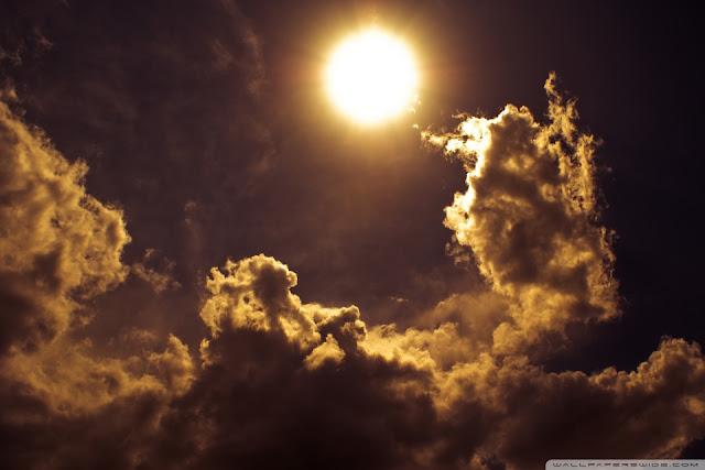 Em muitas ocasiões é possível vermos os sol próximo das nuvens