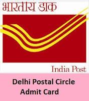 Delhi Postal Circle Stage 2 Admit Card