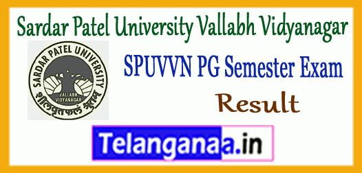SPUVVN  Sardar Patel University Vallabh Vidyanagar PG 1st 3rd Semester Result