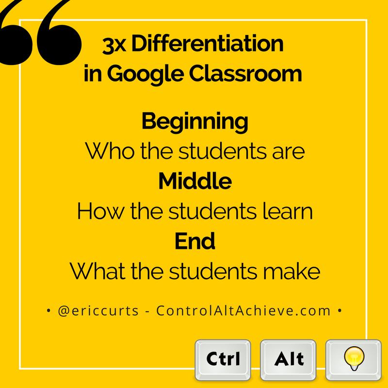 Control Alt Achieve Triple Differentiation In Google Classroom