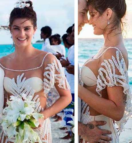 Isabeli Fontana vestido de noiva, casamento Di Ferrero