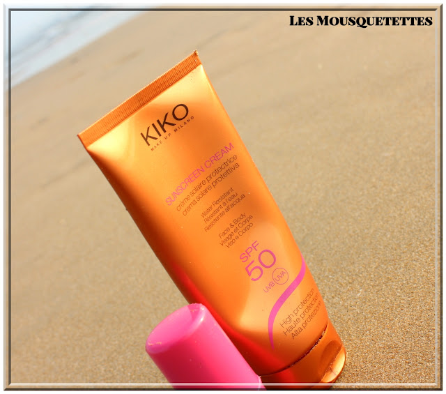 Crème solaire protectrice SPF 50 KIKO - Les Mousquetettes©