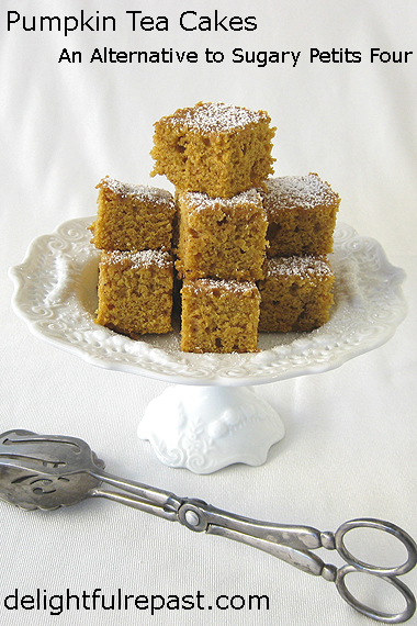 Pumpkin Tea Cakes - An Alternative to Sugary Petits Four / www.delightfulrepast.com