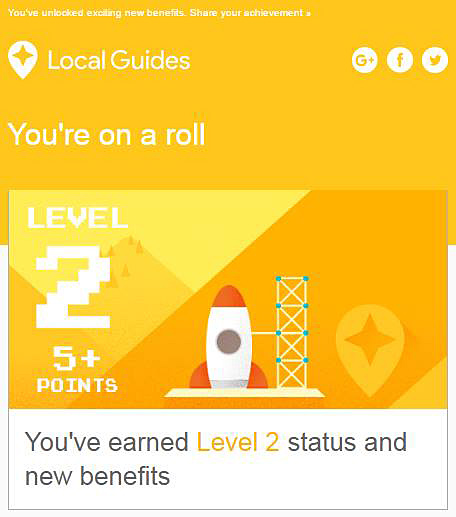 Google Local Guide Level Two