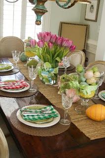 Decoración de mesas para Pascua
