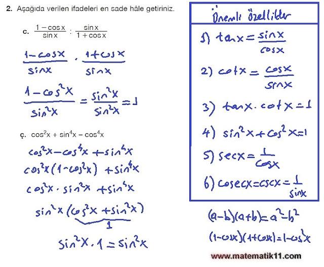11. Sınıf Matematik Nova Yayınları Ders Kitabı 187. Sayfa İleri Düzey Çözümleri