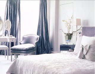 Color Forecast Pantone Spring 2014 Color Report Purple Haze Bedroom White Flowers Chaise Lounge Vanity