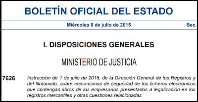 Instrucción DGRN 08/07/2015