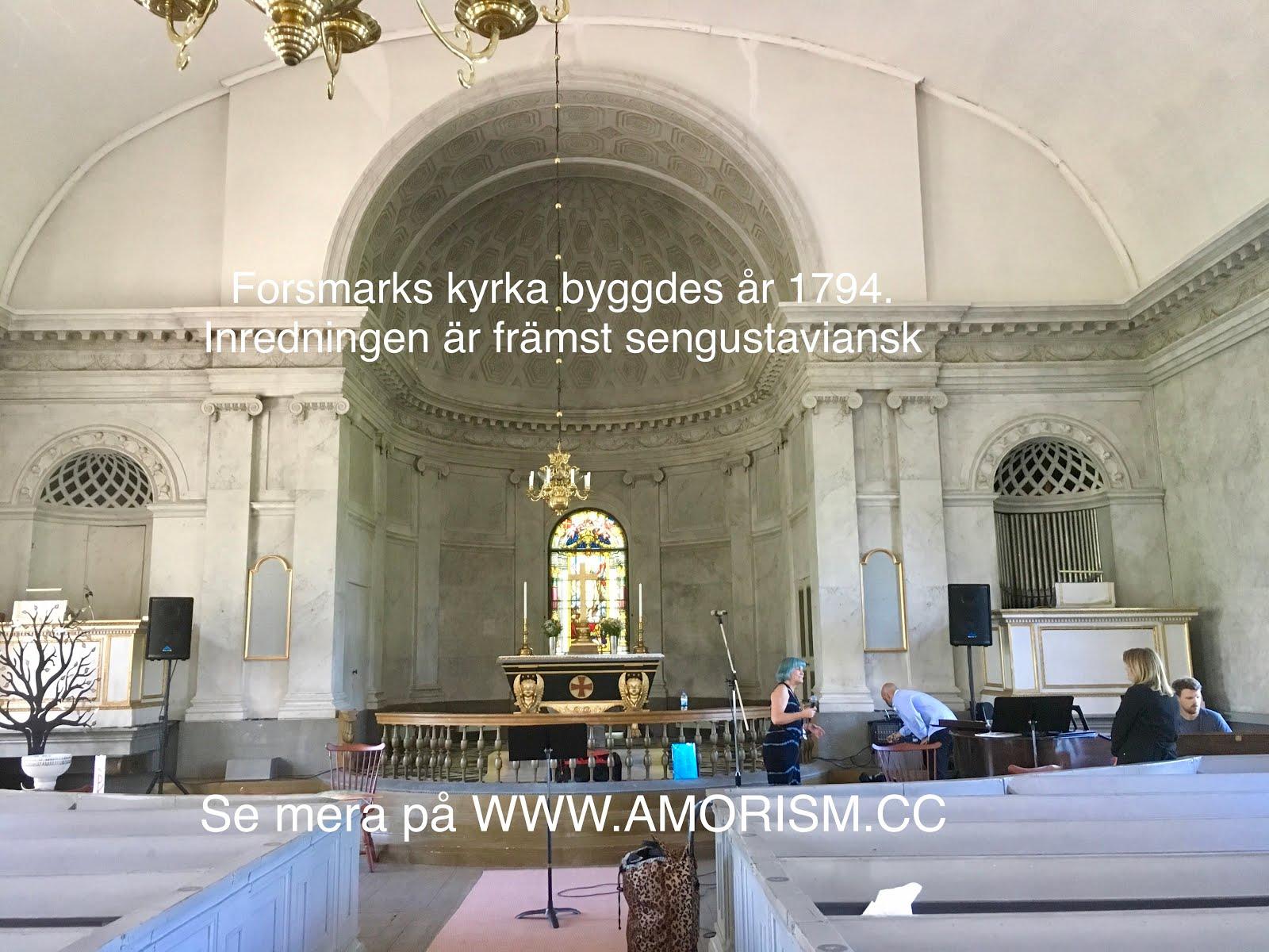 Bild jpg. Forsmarks kyrka interiör