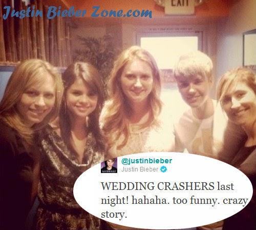 Justin Bieber & Selena Gomez The Wedding Crasher At Paige