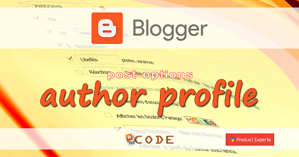 Blogger Code PE - L'option Profil de l'auteur