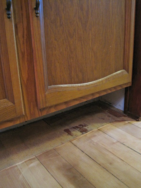 under cabinet hardwood floor refinish