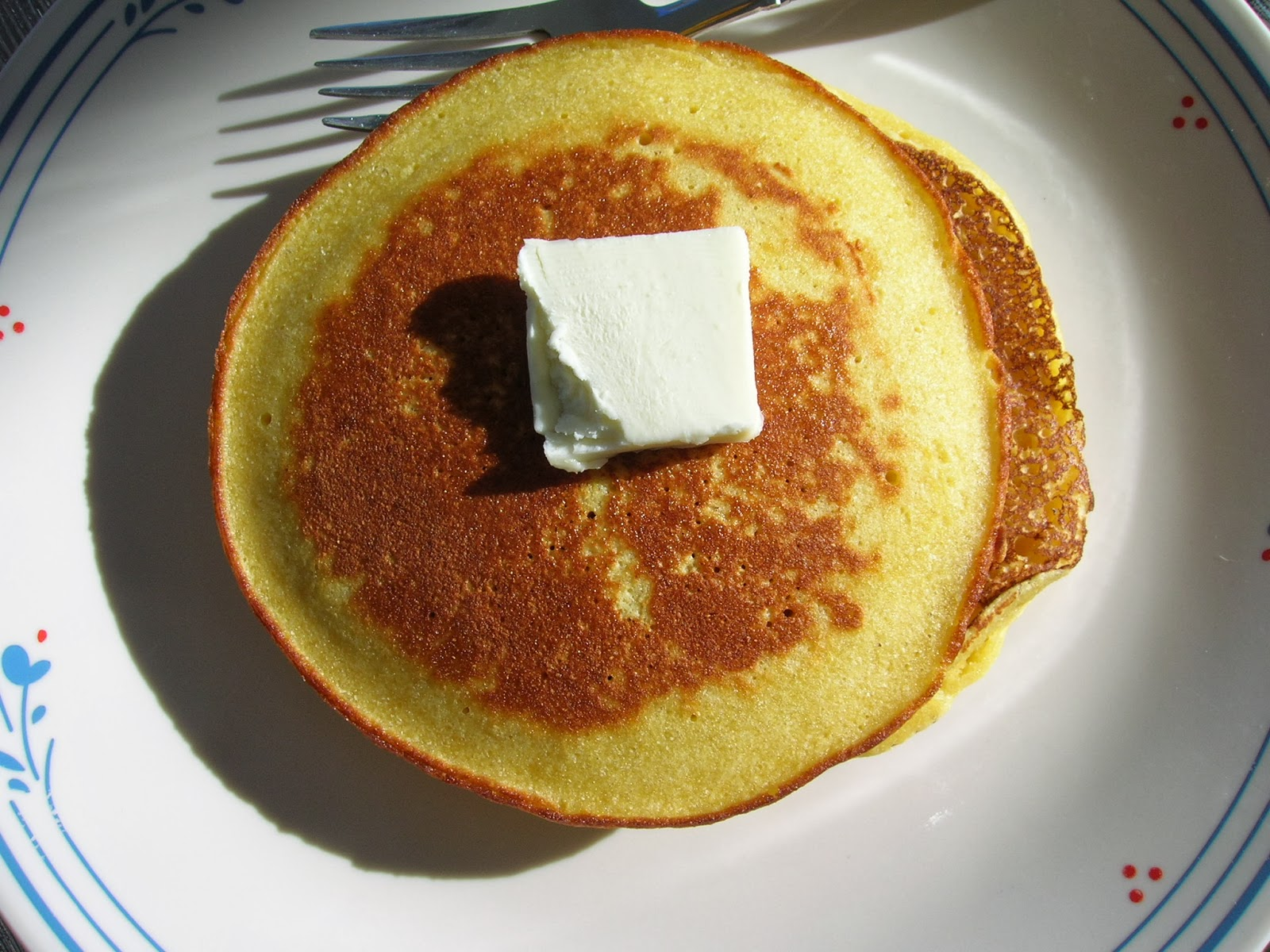 Wonderful fluffy lower carb, gluten free pancakes made with bean flour