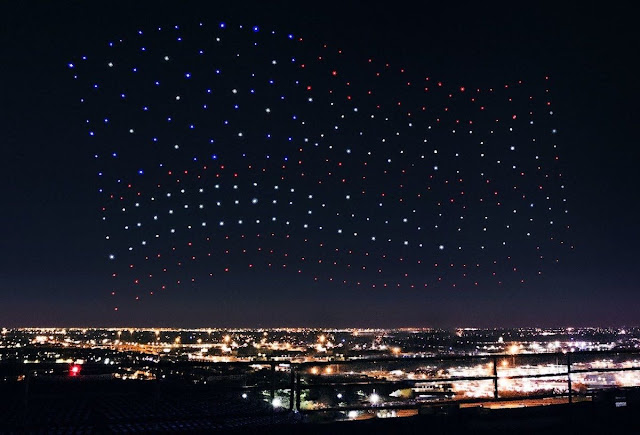 este 4 de julio los drones seran los encargados de el show de luces