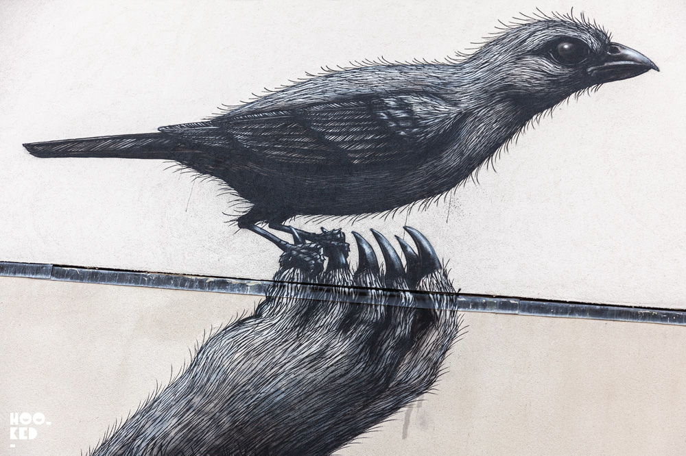 Close-up of Walthamstow's Latest Mural By Belgian Street Artist ROA