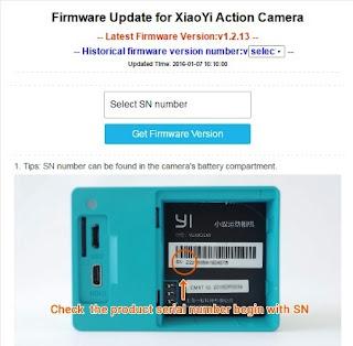 Cara Update/Upgrade Firmware Xiaomi Yi