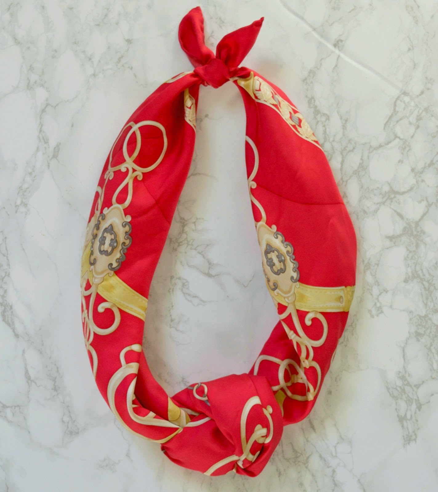 how to tie a silk scarf - silk scarf tying ideas