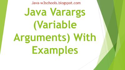 Java Varargs (Variable Arguments) With Examples