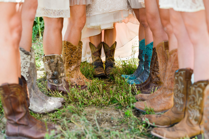 Bridesmaids Cowgirl Boots / Merry Character Photography