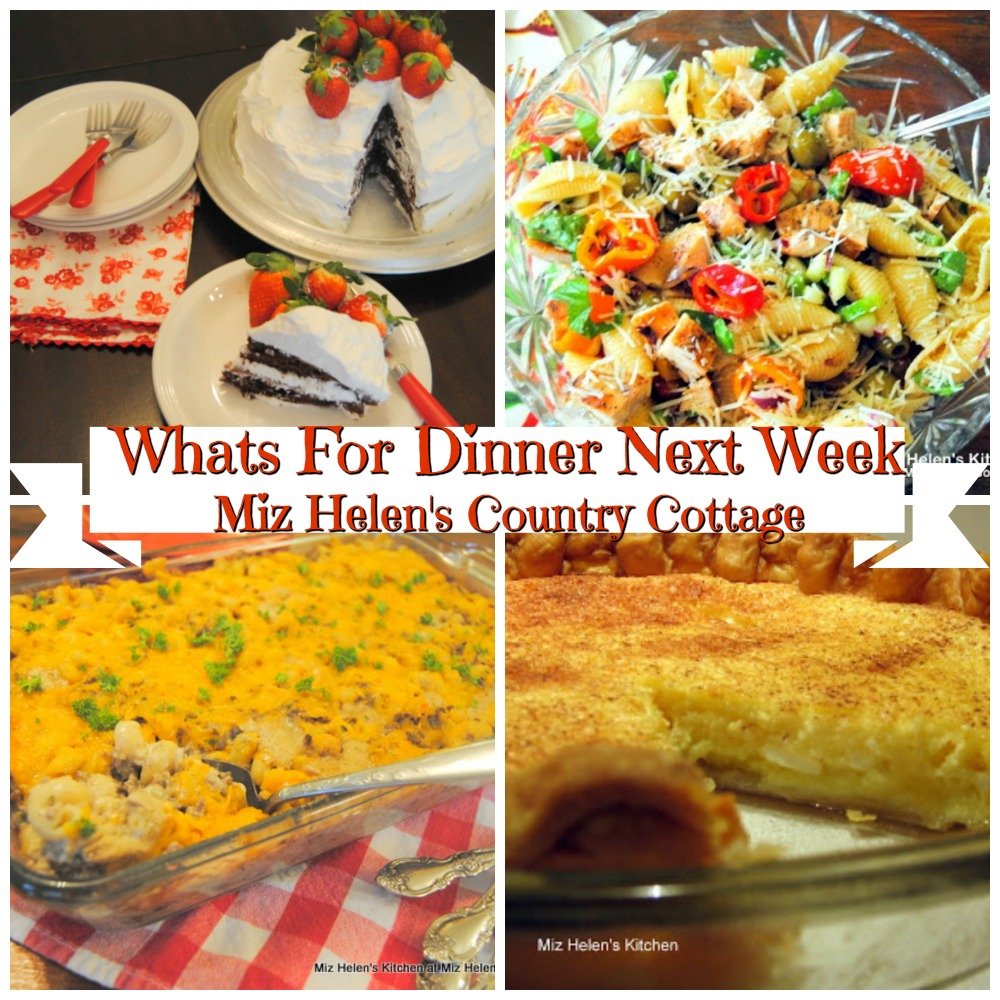 Whats For Dinner Next Week * Week of 3-29-20