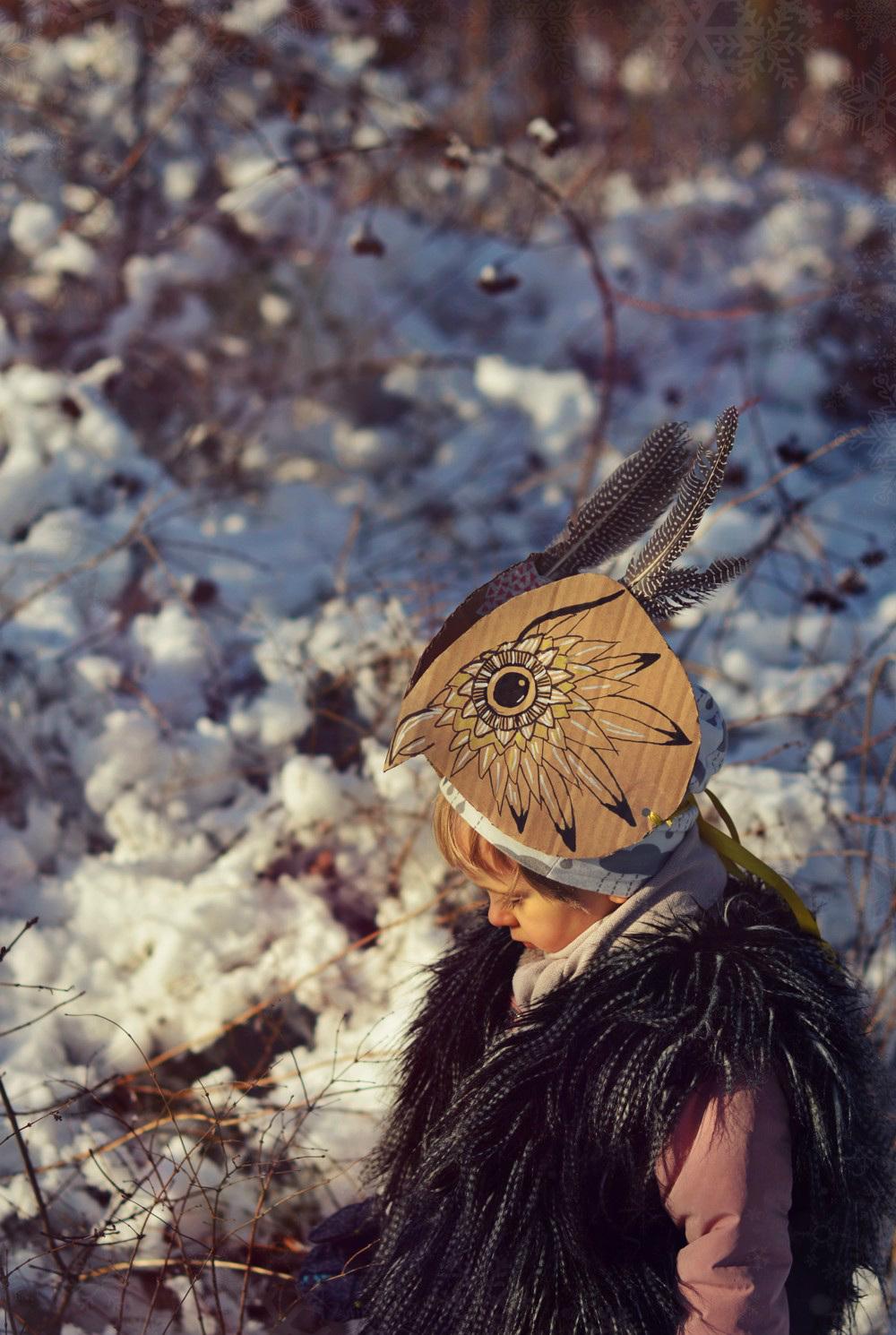 DIY: maska sowy (sowie przebranie 🦉)
