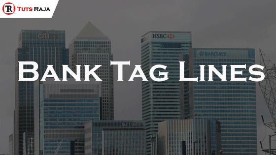 Bank Tag Lines
