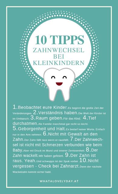 Wackelzahn - Wackelt der Zahn wackelt die Seele - Zahnwechsel - whatalovelyday