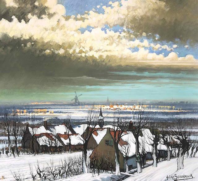 Achiel Van Sassenbrouck, a color landscape of the Netherlands