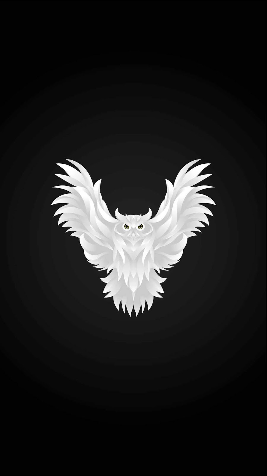 Dark Owl Wallpaper Artistic Joyful