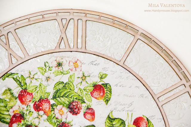 Свадебные-часы-настенные -земляника-Мила-Валентова-10