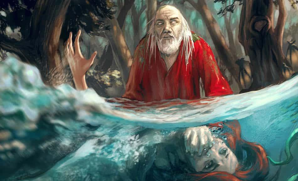 A, mitoloji, İskandinav mitolojisi, Slav mitolojisi, Su ruhu Vodyanoi, Vodyanoi, Slav efsaneleri, İskandinav efsaneleri, Suyun ruhu, Kötü ruh, Eski inanışlar, Antik efsaneler,