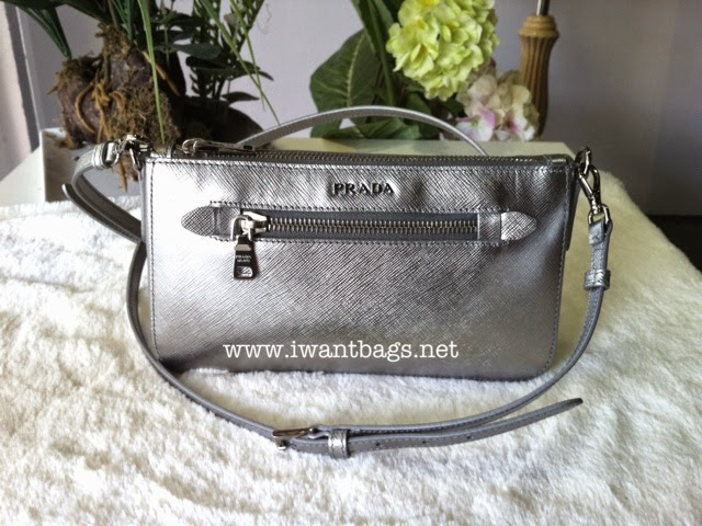 8b6772b1c97ae5 I Want Bags backup: Prada BT0834 Saffiano Lux Mini Bag-Cromo