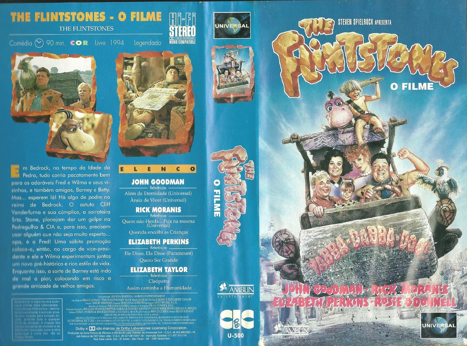 Filme Os Flintstones with regard to casa do vhs : os flintstones: o filme