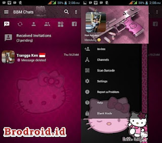 BBM Mod Hello Kitty Apk Versi 3.2.5.12 Update Terbaru