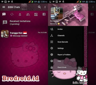 Download BBM2 Mod Tema Hello Kitty Apk Versi 3.3.3.39 Clone Update Terbaru