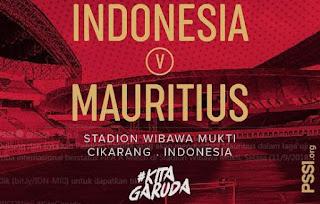 Jadwal Timnas Indonesia vs Mauritius - Selasa 11 September 2018