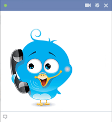 Bird on Telephone Icon