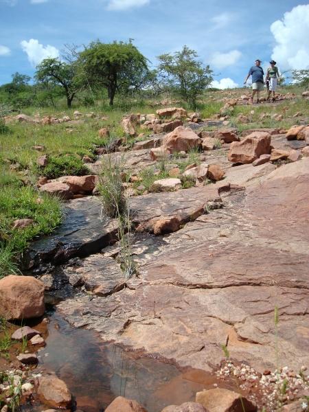 Dinosaur Footprints at Mount Etjo, Namibia
