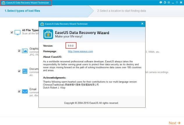 WIZARD TÉLÉCHARGER RECOVERY AVEC CRACK EASEUS GRATUIT DATA 9.9.0